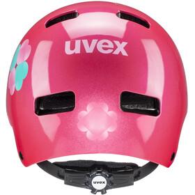 UVEX Kid 3 Fietshelm Kinderen, pink flower